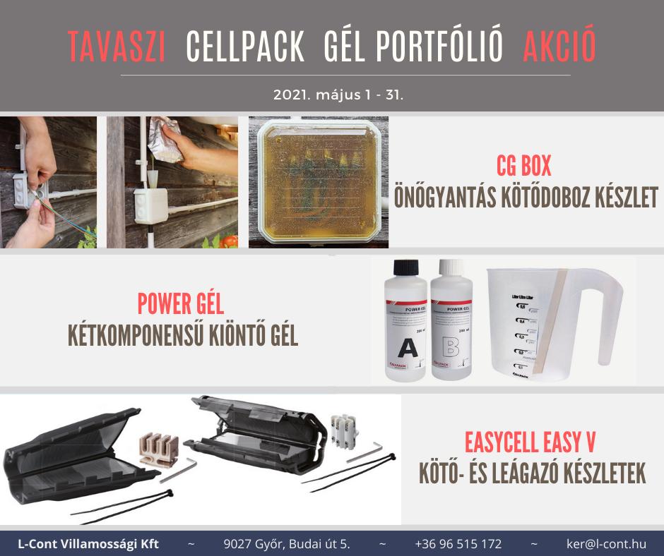 Tavaszi Cellpack gél portfólió akció - 2021.05.01-31.